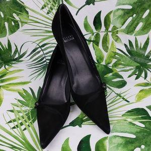 - Stuart Weitzman suede heels with gem 8M